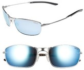 Revo Men's Thin Shot 60Mm Sunglasses - Chrome/ Blue Water