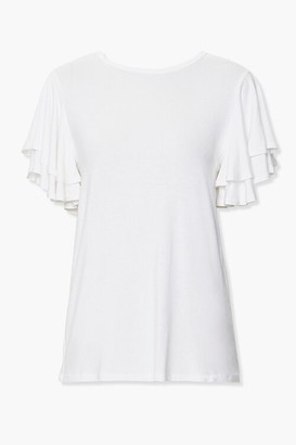 Forever 21 Tiered Flounce-Sleeve Tee