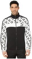 Puma All Over Print T7 Track Jacket Black) Men's Jacket