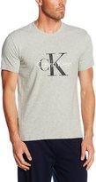 Calvin Klein Logo Short-Sleeve Crew-Neck T-Shirt, Heather Grey