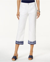 Style&Co. Style & Co Dyed-Hem Capri Jeans, Only at Macy's