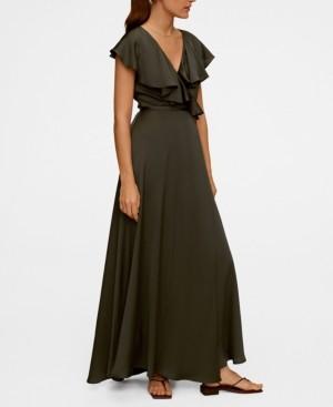 MANGO Women's Ruffle Wrap Dress