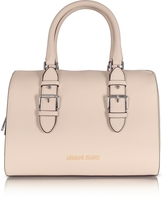Armani Jeans Light Beige Eco Leather Satchel Bag
