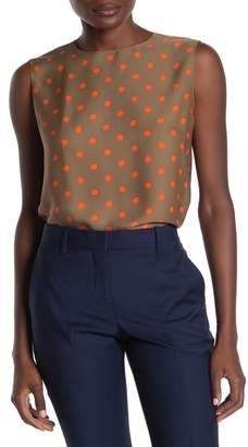 Theory Continuous Dot Silk Shell Tank Top