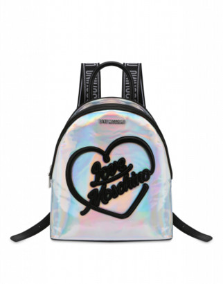 Love Moschino Iridescent Backpack With Logo Woman Multicoloured Size U It - (one Size Us)