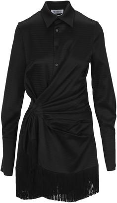 ATTICO Fringed Shirt Dress