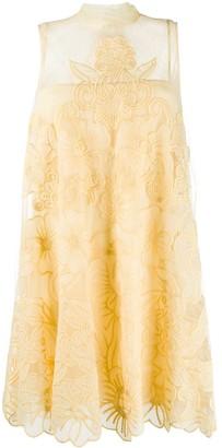 RED Valentino Organza Point D'esprit Mini Dress