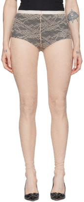 RED Valentino Pink Lace Leggings