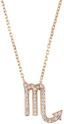 Latelita Zodiac Star Sign Pendant Necklace Rose Gold Scorpio