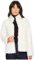 Michael Stars Teddy Fur Long Sleeve Reversible Short Coat Women's Coat