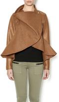 Gracia Camel Peplum Jacket