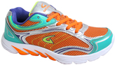 Orange & Neon Blue Line Running Shoe