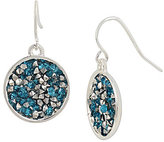Kenneth Cole New York Sprinkle Stone Round Drop Earrings