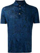 Etro patterned polo shirt - men - Linen/Flax - M