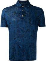 Etro patterned polo shirt - men - Linen/Flax - M