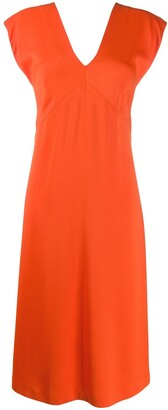 Joseph Sleeveless Flared Midi Dress