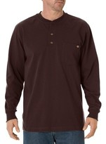 Dickies Men's Cotton Heavyweight Long Sleeve Pocket Henley Shirt