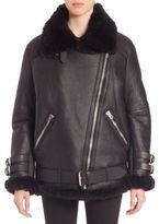 Acne Studios Oversized Shearling Moto Jacket