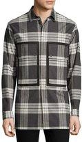 Helmut Lang Plaid Patch-Pocket Sport Shirt, Onyx/Multi