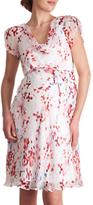 Séraphine Lizzie Cherry Blossom Silk Chiffon Maternity Dress, Multi