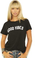 Sub Urban Riot Suburban Riot Good Vibes Loose Tee in Faded Black