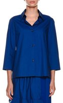 Marni Collared Button-Front Woven Blouse