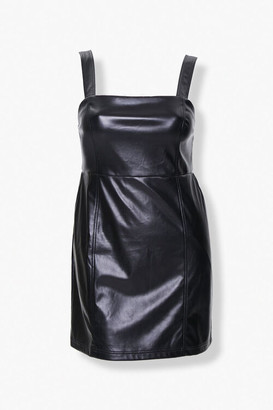 Forever 21 Plus Size Faux Leather Bodycon Dress