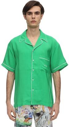 Self Made Viscose Pajama Bowling Shirt