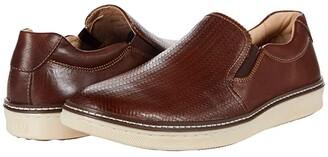 Johnston & Murphy Cullings Slip-On Woven (Mahogany) Men's Shoes
