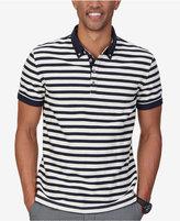 Nautica Men's Slim Fit Stripe Twill Polo