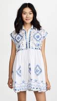 Juliet Dunn Embroidered Poncho Shirt Dress