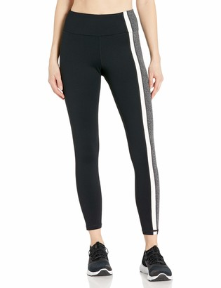 Betsey Johnson Women's Side Stripes Solid High Rise Ankle Legging
