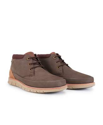 Barbour Nelson Leather Flexi Sole Chukka Boots Colour: BROWN, Size: UK