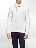 Calvin Klein Quilted Fleece Shawl Sweatshirt