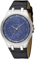 Accurist Celestial Timepiece Men's Quartz Watch with Dial Analogue Display and Black Leather Strap GMT318UK