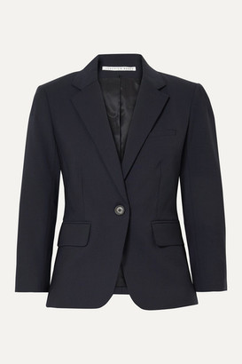 Veronica Beard Schoolboy Dickey Grain De Poudre Wool-blend Blazer - Navy