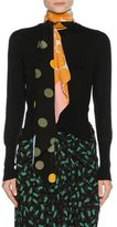 Marni Scarf-Neck Cashmere Sweater, Black
