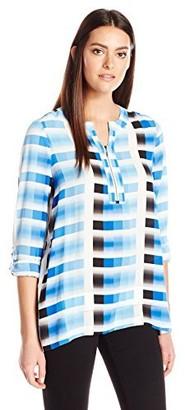 Rafaella Women's Petite Size Ombre Stripe Top
