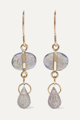 Melissa Joy Manning 14-karat Gold Labradorite Earrings - one size