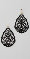 Juicy Couture Black Openwork Teardrop Earrings