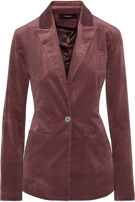 J Brand Denise Cotton-blend Velvet Blazer