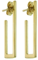 Jennifer Meyer Rectangle Hoop Earrings - Yellow Gold