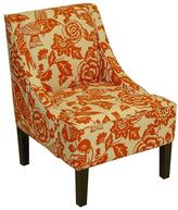 Canary Swoop Arm Chair - Tangerine