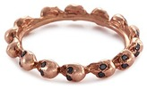 Delfina Delettrez Diamond 18k rose gold skull ring