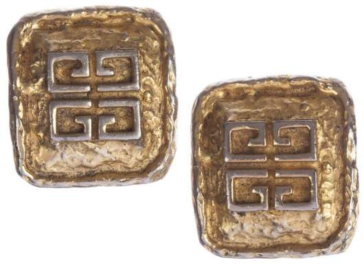 Givenchy Monogram Rectangular Nugget Earrings