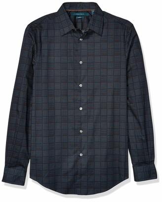 Perry Ellis Men's Mini Square Dot Print Long Sleeve Shirt