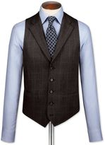 Charles Tyrwhitt Dark Grey Saxony Business Suit Wool Vest Size w36