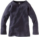 Tea Collection Ribbed Purity Tee - Indigo-6-12 Months