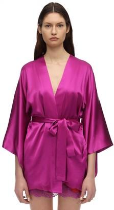 Fleur Du Mal Haori Silk Satin Robe