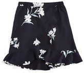 Aqua Girls' Floral Crossover Front Skirt - Sizes S-XL - 100% Exclusive